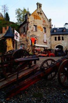 Noční palba na hradě