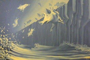Létající sloni, vlčí máky a prasata