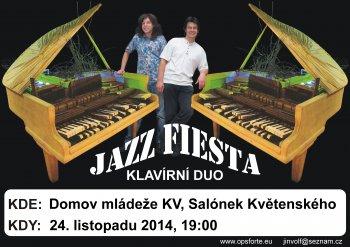 Benefiční koncert klavírního dua Jazz Fiesta