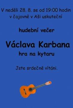 Hudební večer Václava Karbana