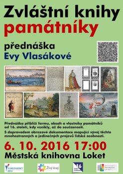 TÝDEN KNIHOVEN: Eva Vlasáková: Zvláštní knihy památníky