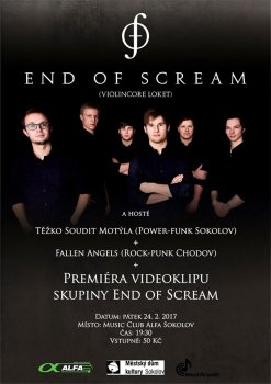 End of Scream - premiéra videoklipu (+ hosté)