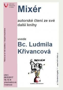 Mixér - autorské čtení z knihy Bc. Ludmily Křivancové, karlovarské knihovnice