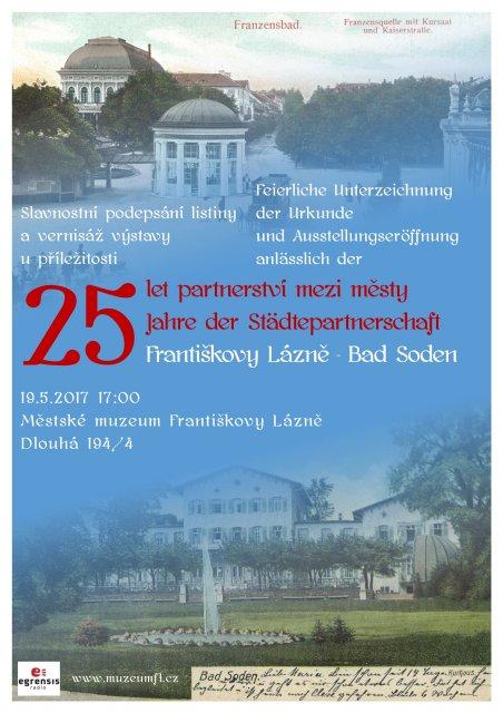 25 let partnerství mezi městy Františkovy Lázně – Bad Soden