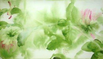 Akvarelová malba v zahradě