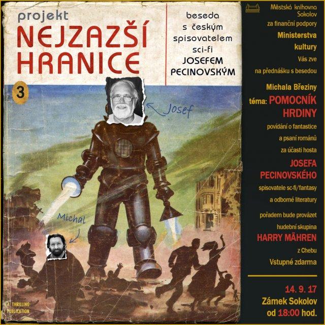 Beseda s českým spisovatelem sci-fi Josefem Pecinovským