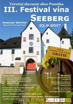 3. ročník Festivalu vína na hradě Seeberg, výroční slavnost obce Poustka