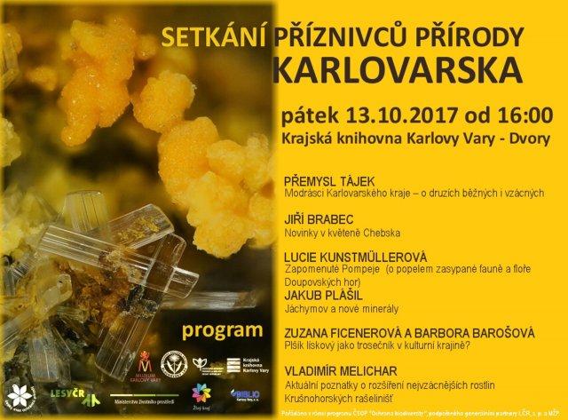 Setkání příznivců přírody Karlovarska 2017