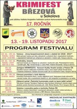 KRIMIFEST BŘEZOVÁ 2017 - 17. ročník