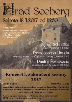 Komorní koncert k ukončení hradní sezóny