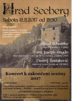 Komorní koncert k ukončení hradní sezóny - PiKap Quartet