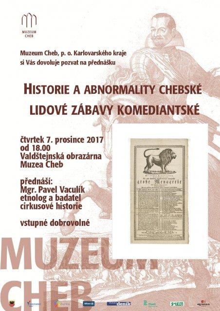 Historie a abnormality chebské lidové zábavy komediantské od 1.pol.19.století