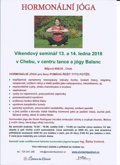 Hormonální jógová terapie pro ženy - víkendový seminář