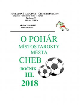 Zimní turnaj o putovní pohár místostarosty města Chebu ve fotbale