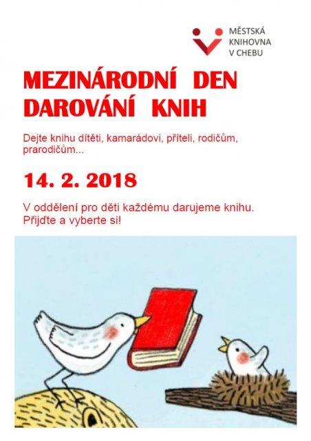 Mezinárodní den darování knih - v oddělení pro děti každému darujeme knihu