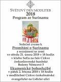 Světový den modliteb 2018, program ze Surinamu