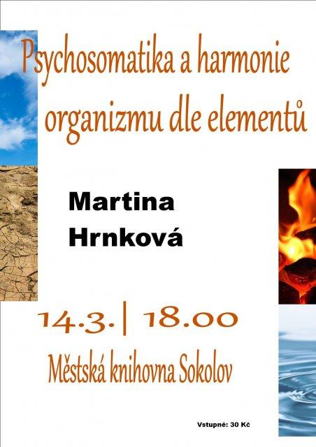 Psychosomatika a harmonie organizmu dle elementů – Martina Hrnková