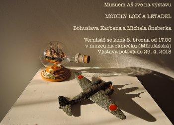 Modely lodí a letadel