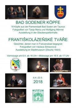 Dvojitá výstava: Františkolázeňské hlavy • Bad Sodener Köpfe 2018