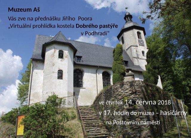 Virtuální prohlídka kostela Dobrého pastýře v Podhradí
