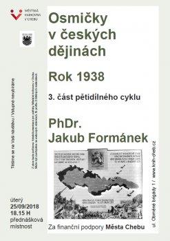 OSMIČKY V ČESKÝCH DĚJINÁCH - 3. část pětidílného cyklu přednášek: Rok 1938