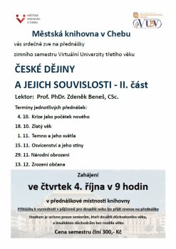 Virtuální Univerzita třetího věku - České dějiny a jejich souvislosti II.
