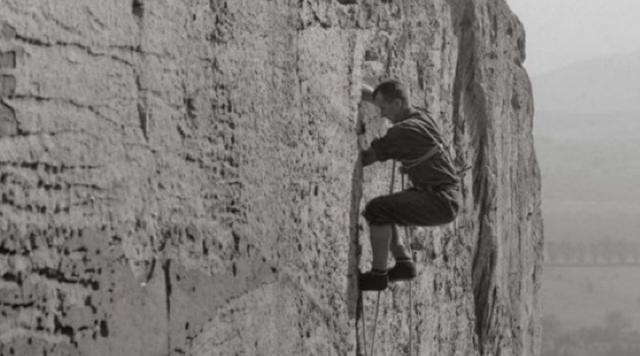 Boryš umí po skalinách