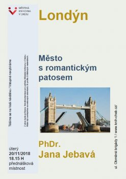 Londýn, město s romantickým patosem - PhDr. Jana Jebavá