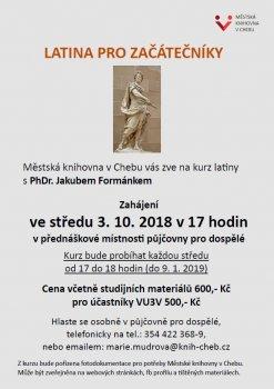 Kurz latiny pro začátečníky - PhDr. Jakub Formánek