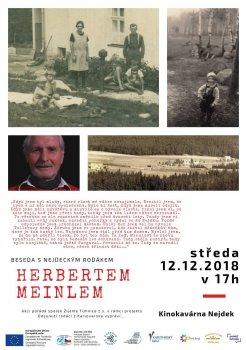 Beseda s rodákem z Nejdku Herbertem Meinlem