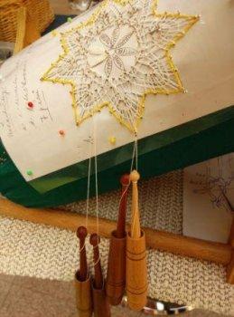 Letní setkání krajkářek - Ukázka řemesla