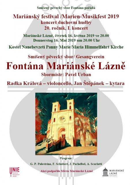 I. koncert mariánského festivalu duchovní hudby 2019