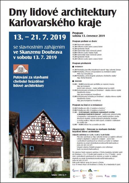 Dny lidové architektury Karlovarského kraje