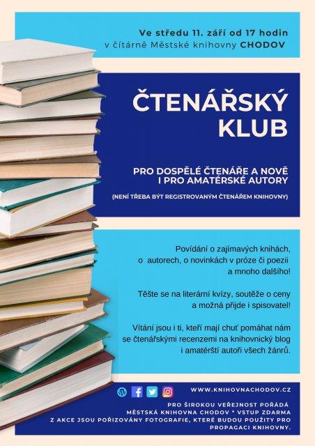 Čtenářský klub - Večery s knihou.