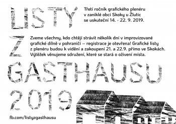 Listy z Gasthausu - prodejní výstava grafik