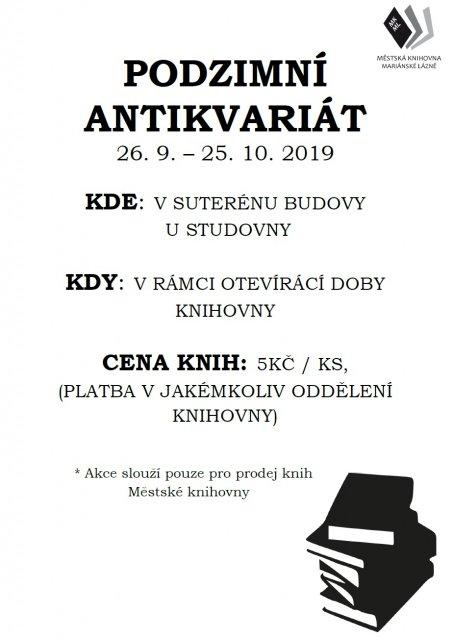 PODZIMNÍ ANTIKVARIÁT