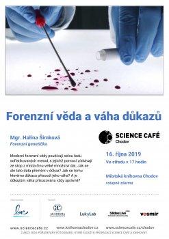 Science café Mgr. Halina Šimková - forenzní genetička
