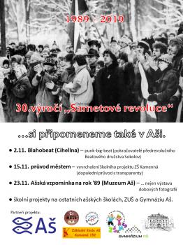 1989-2019 30. výročí Sametové revoluce