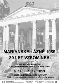 Mariánské Lázně 1989: 30leté vzpomínky