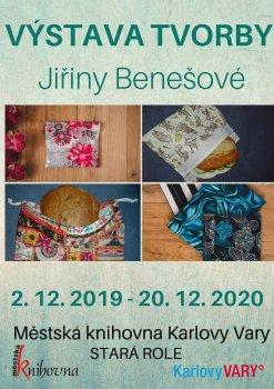 Výstava tvorby Jiřiny Benešové