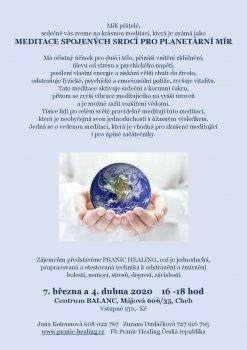 Meditace spojených srdcí pro planetární mír