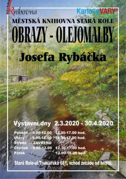 Výstava obrazů Josefa Rybáčka