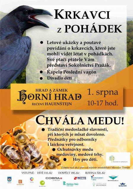 Chvála medu a Krkavci na Horním Hradě