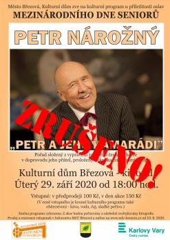 Mezinárodní den seniorů - Petr Nárožný a jeho kamarádi - ZRUŠENO!