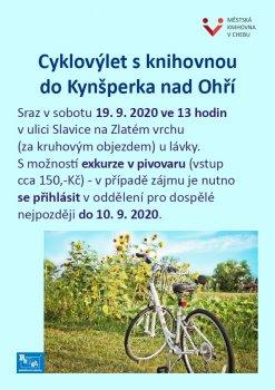 Cyklovýlet s knihovnou do Kynšperka n/O s možností exkurze v pivovaru