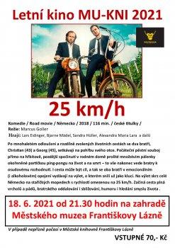 """Letní kino MU-KNI – """"25 km/h"""""""